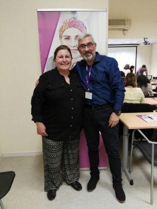 Juan Fernandez de ONAH Hepatitis y Begoña Barragán, de GEPAC cáncer